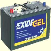 batterie exide gel